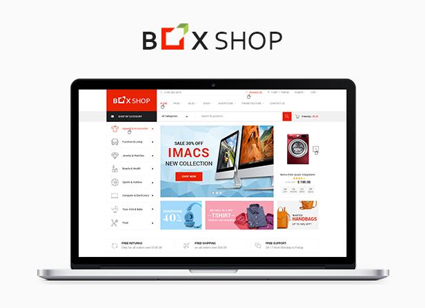 قالب وردپرس فروشگاهی باکس شاپ | BoxShop | پوسته فروشگاهی | قالب چند فروشندگی | قالب سازگار با دکان