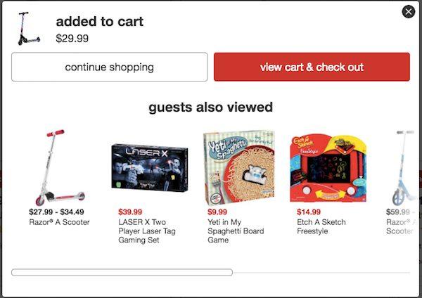 نمایش محصولات مرتبط به هنگام افزودن محصول به سبد خرید