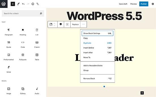وردپرس 5.5 | امکانات جدید وردپرس | انتشار نسخه جدید وردپرس | wordpress 5.5 |ویژگی های نسخه جدید وردپرس